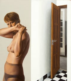 From Inside - Photorealist, Acrylic Paint, Nude, Figurative Painting by Czene