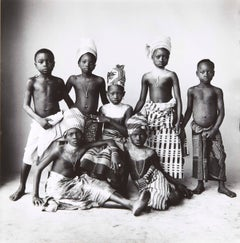 Dahomey Children, Dahomey, 1967 - Black and White Photography by Irving Penn