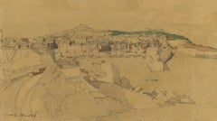 St Ives - Post-Impressionist, Early 20th Century, Landscape Drawing, Watercolor