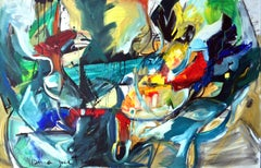 Painting Jazz Gaga I - Abstract Expressionist, Abstract Paintings, 21st Century