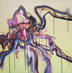 Maybejusteitheror_1 - Abstract Expressionist, Abstract Painting, 21st Century