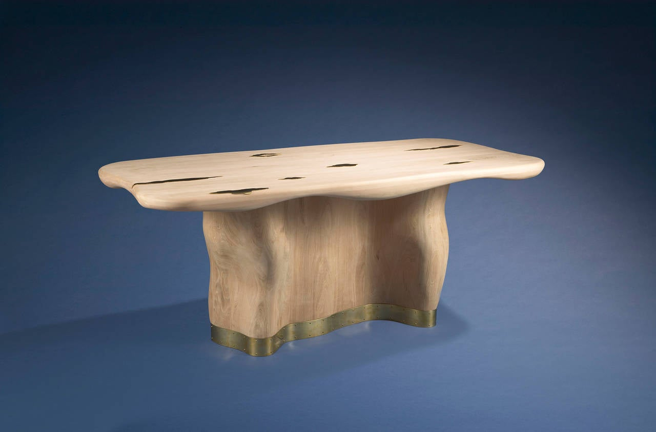 Brushed Onde Table by Mattia Bonetti,  For Sale