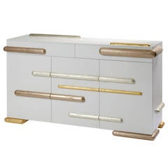 Gold Iliade Sideboard by Mattia Bonetti, Cat-Berro Gallery Paris. In stock