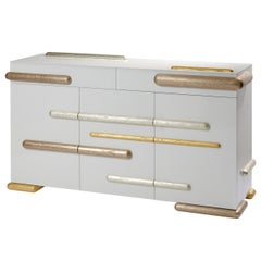 Gold Iliade Sideboard by Mattia Bonetti, In stock