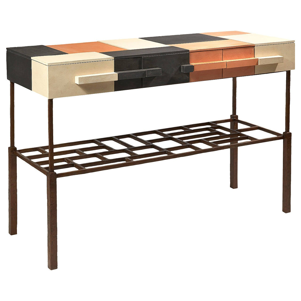 Terracotta Console by Mattia Bonetti. In stock. Cat-Berro Gallery Paris