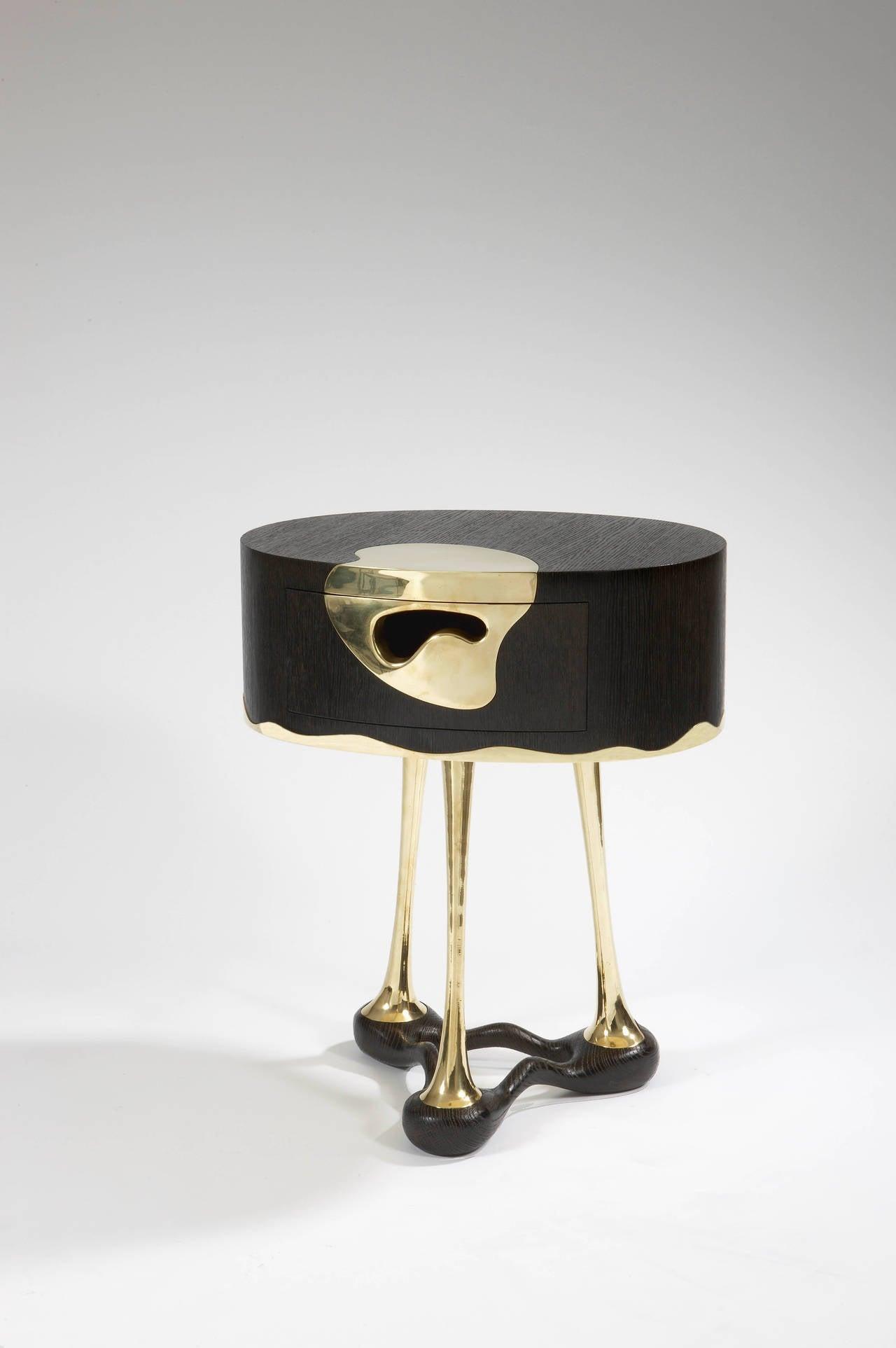 French UFO Side Table by Mattia Bonetti. In stock.  For Sale