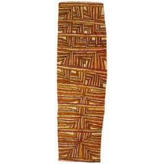 'Leaves of the Bamboo' by Brenda Kesi, Australian Aboriginal Bark Cloth Painting