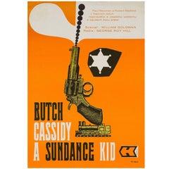 """Butch Cassidy and the Sundance Kid"" Original Czech Film Poster, Stanner, 1970"