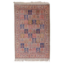 Fine Pure Silk Turkish Hereke Rug
