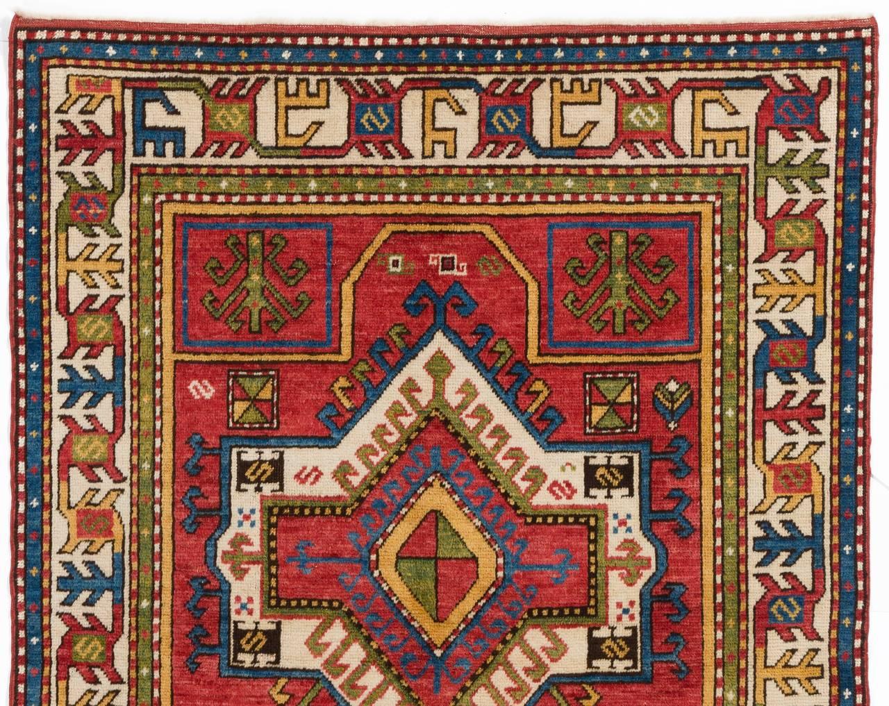 vintage caucasian fachralo kazak rug for sale at 1stdibs