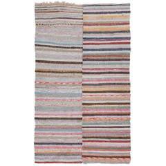 Striped Cotton Turkish Kilim