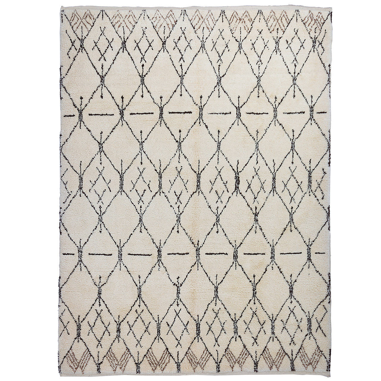 Contemporary Moroccan Design Wool Rug For Sale