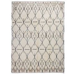 Contemporary Moroccan Design Wool Rug