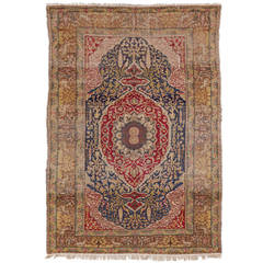 Antique Turkish Kayseri Rug