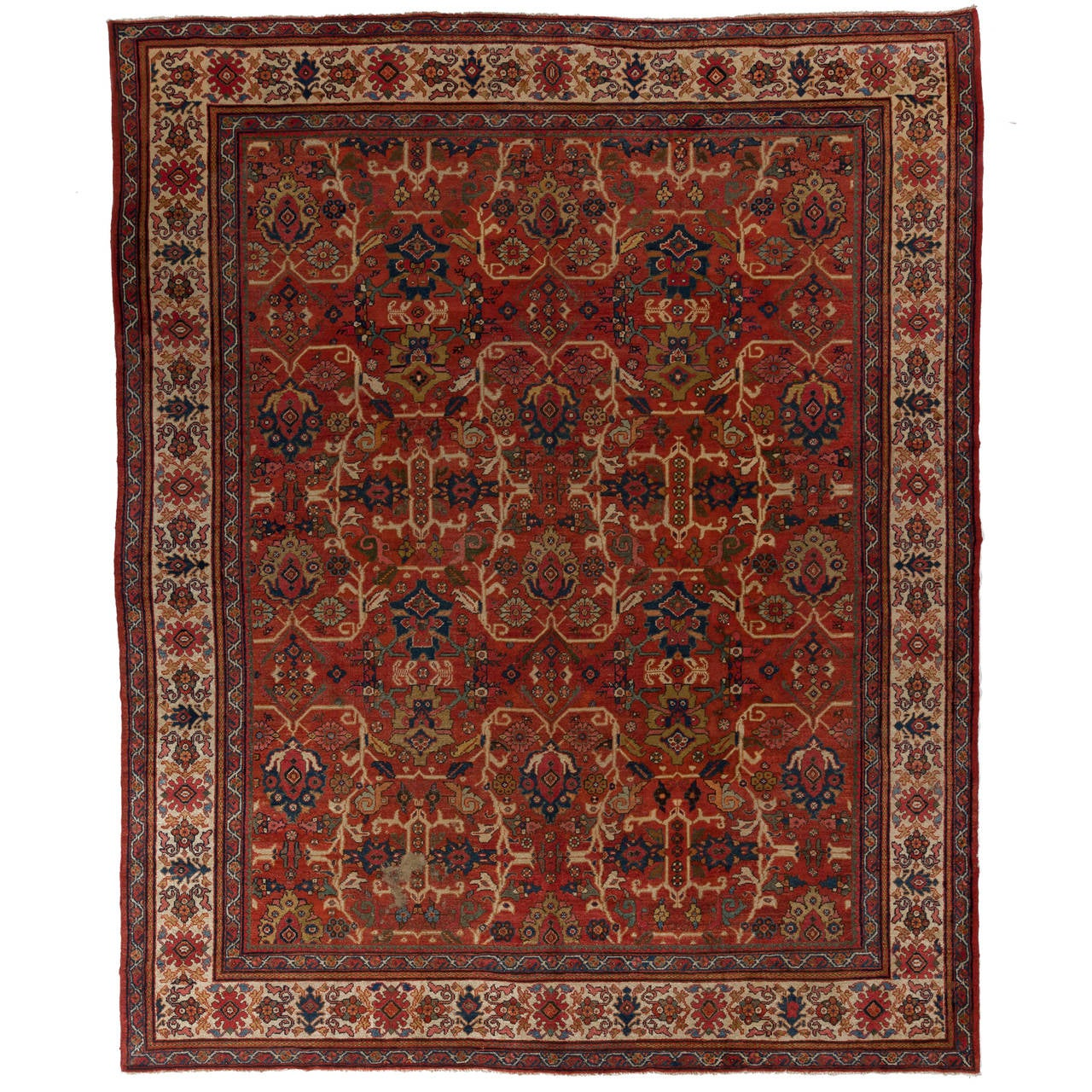 Persian Rugs For Sale: Impressive Antique Persian Mahal Rug For Sale At 1stdibs