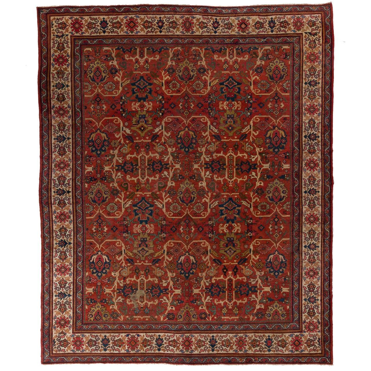 Impressive Antique Persian Mahal Rug For Sale At 1stdibs