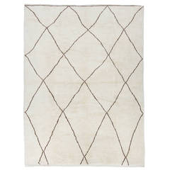 Contemporary Moroccan Natural Wool Rug