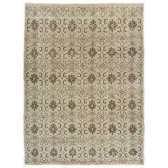 Midcentury Turkish Rug in Muted Colors