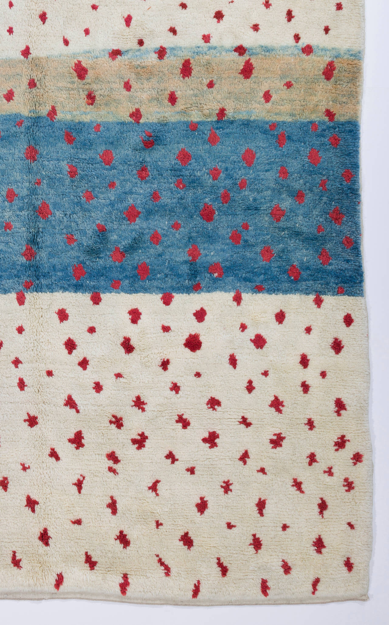 contemporary moroccan rug in blue red and ivory for sale at 1stdibs
