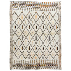Large Contemporary Moroccan Wool Rug