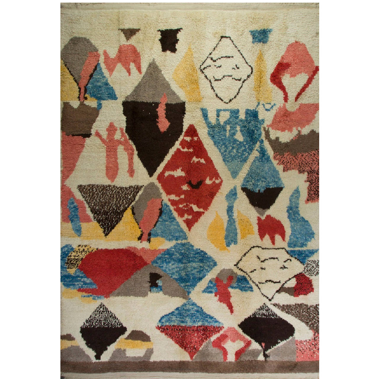 Colorful contemporary moroccan wool rug for sale at 1stdibs for Colorful rugs for sale