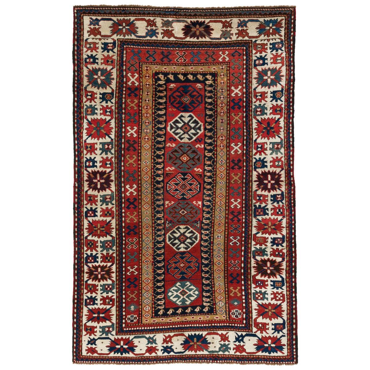 Antique Caucasian Kazak Rug, 19th Century For Sale At 1stdibs