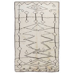 Moroccan Berber Rug Made of Natural Undyed Wool