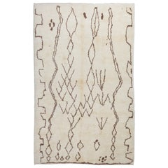 Modern Moroccan Wool Rug. 100% Wool - Custom Options Available
