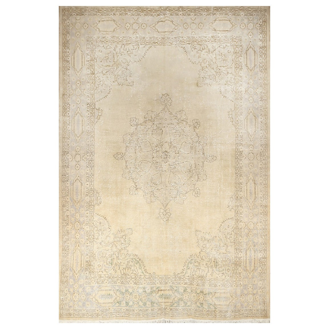 Oushak Rugs For Sale: Muted Turkish Oushak Rug For Sale At 1stdibs