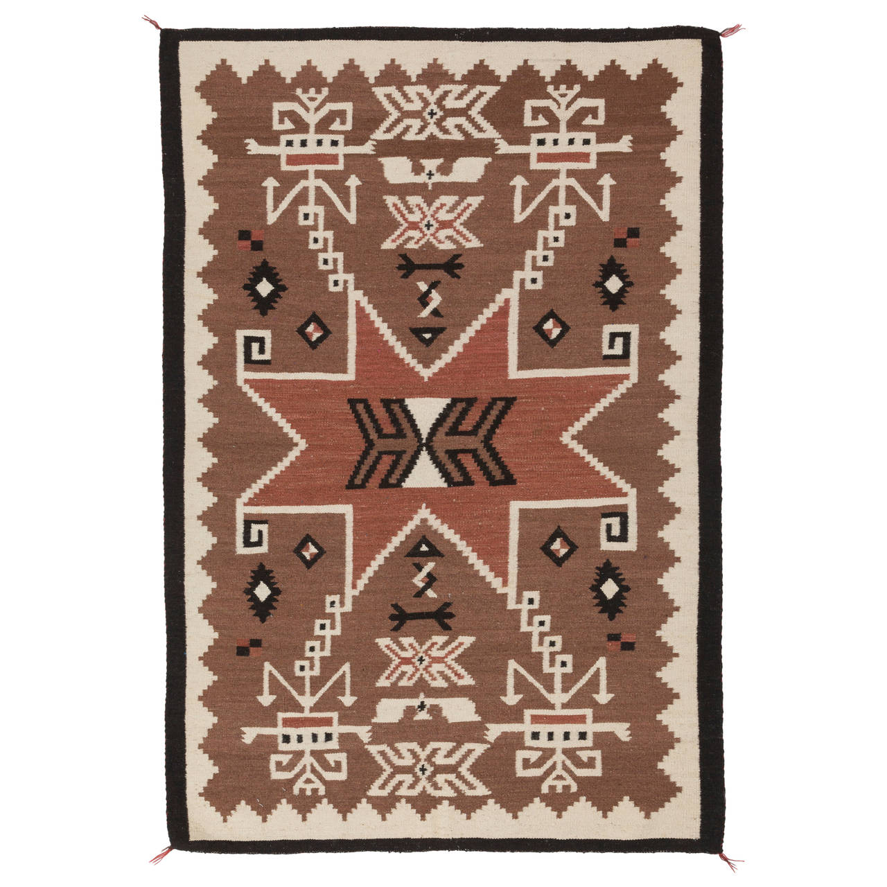 Navajo Handwoven Storm Pattern Rug For Sale At 1stdibs