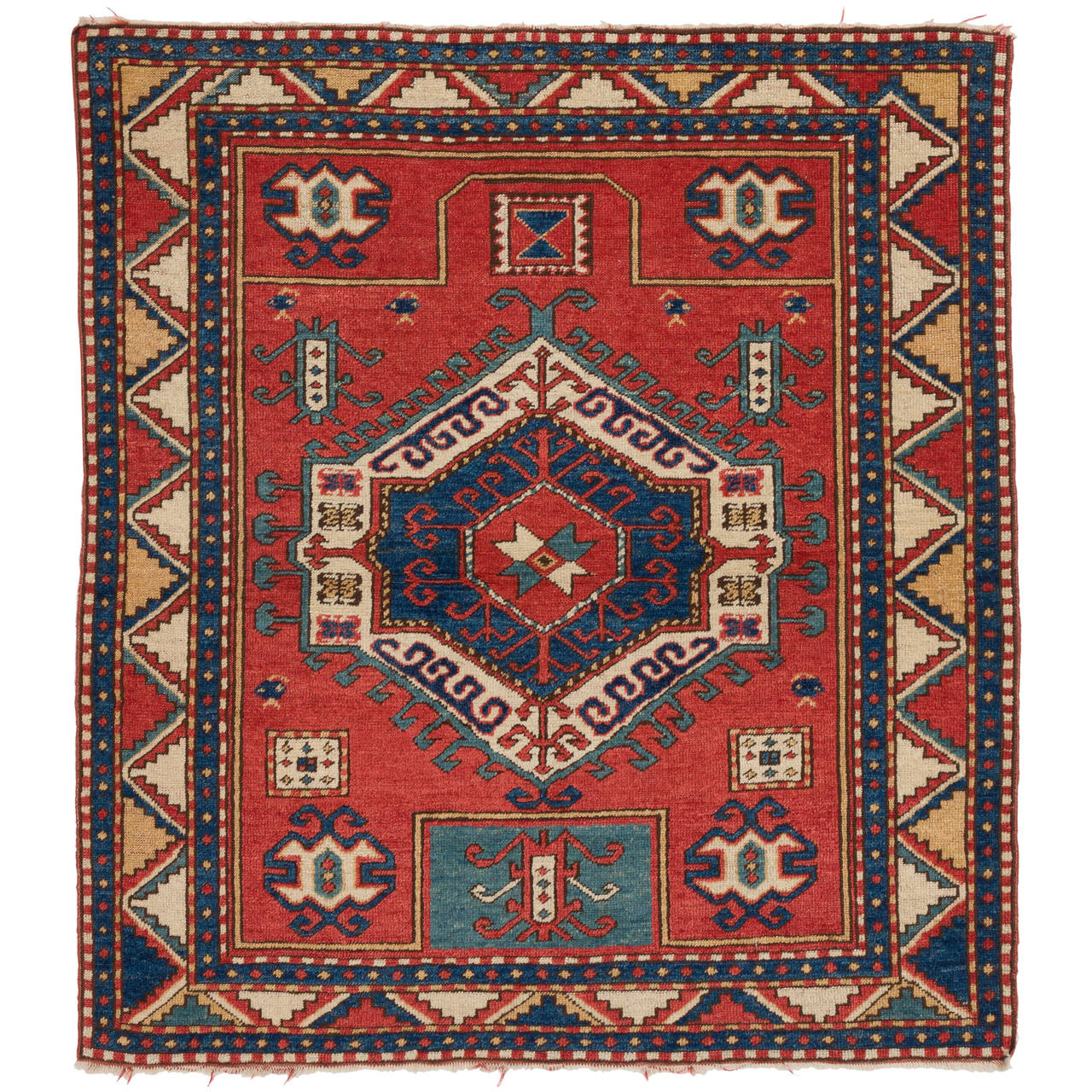 Vintage Caucasian Fachralo Kazak Rug For Sale At 1stdibs