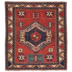Kaukasischer Vintage Fachralo Kazak Teppich