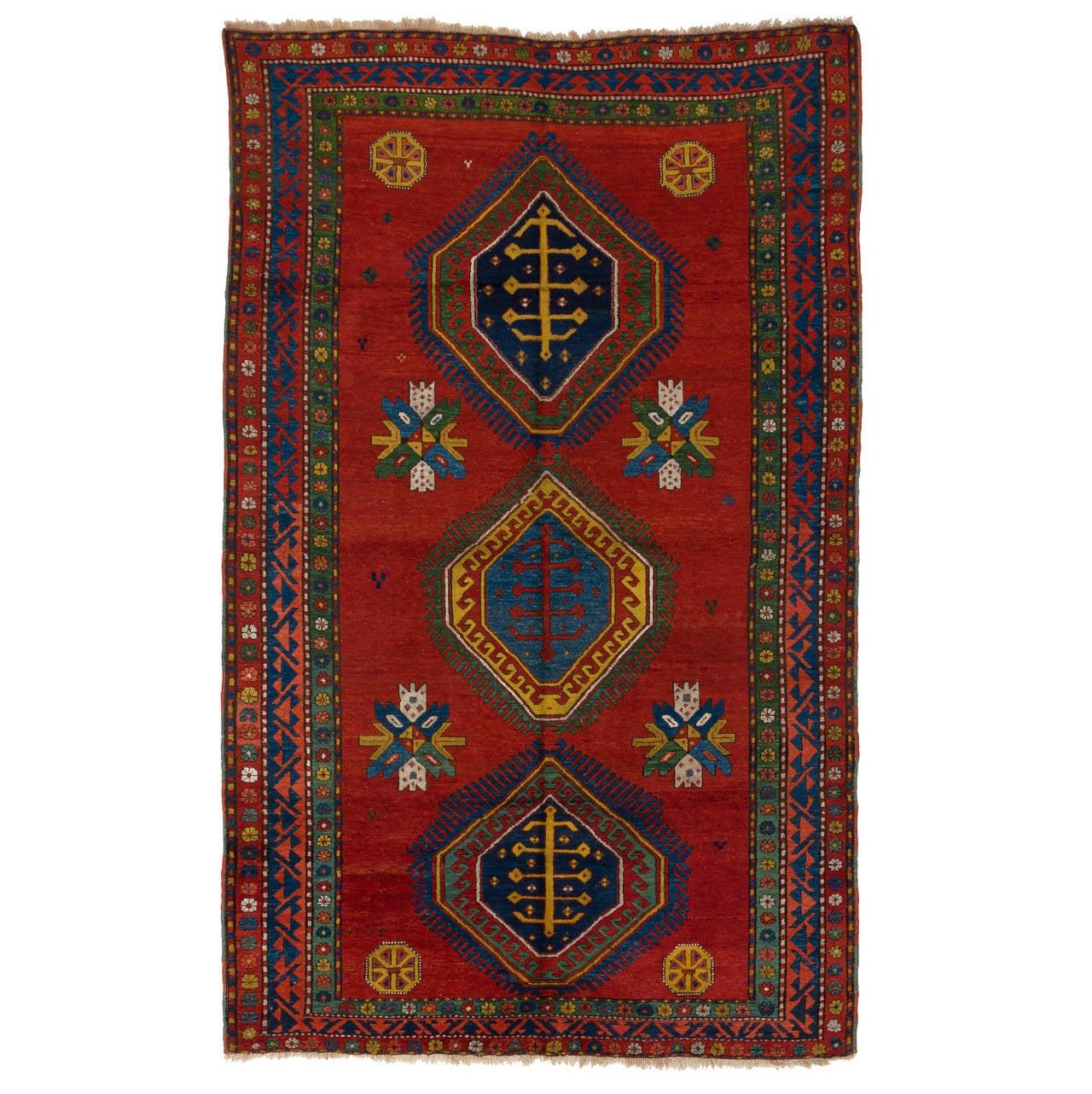 Armenian Antique Rugs: Antique Armenian Kazak Rug From South Caucasus At 1stdibs