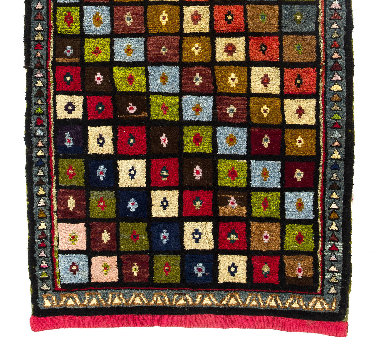 Colorful mid century modern turkish rug for sale at 1stdibs for Colorful rugs for sale