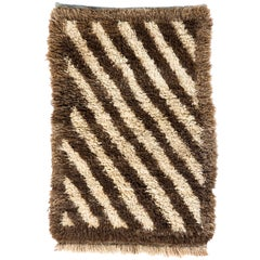 Vintage Tulu Rug made of Natural Undyed Wool