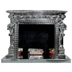 Chrome Griffin Fireplace