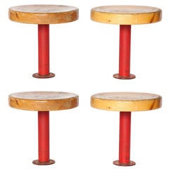 Pair of Kindergarten Stools from Les Arcs by Charlotte Perriand