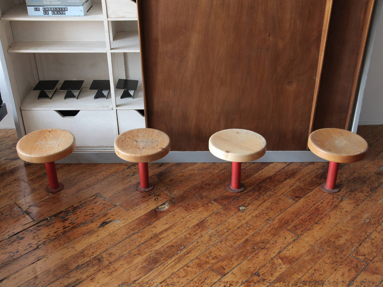 Pair of Kindergarten Stools from Les Arcs by Charlotte Perriand 2