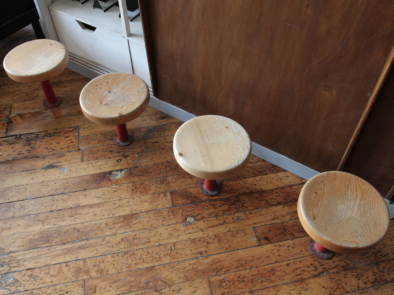 Pair of Kindergarten Stools from Les Arcs by Charlotte Perriand 6