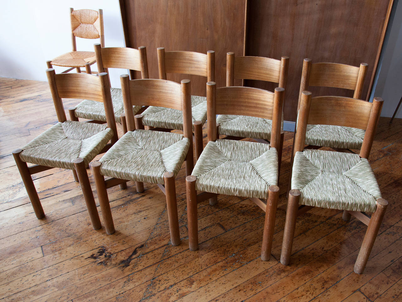 set of meribel dining chairs by charlotte perriand at 1stdibs
