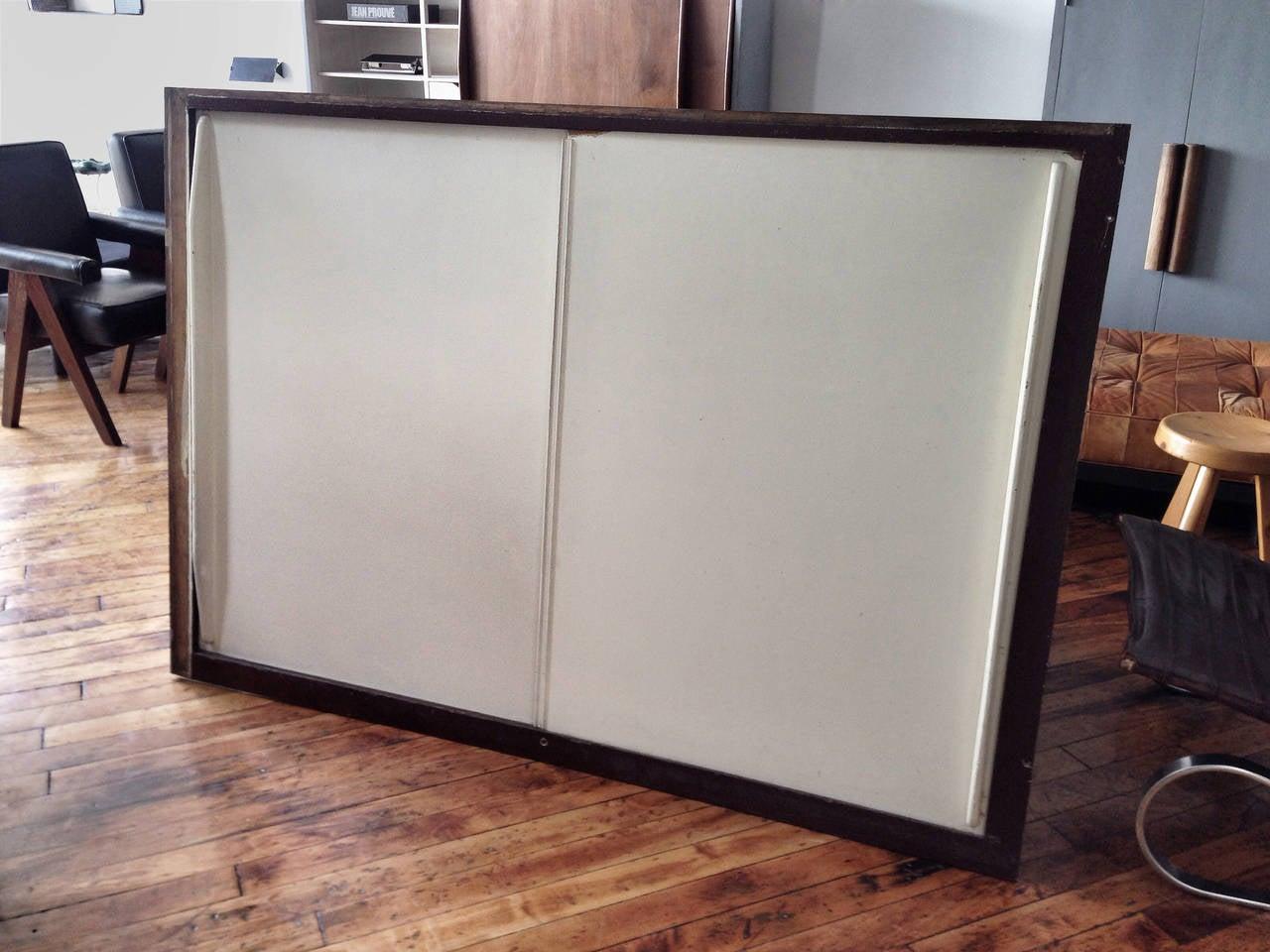 Jean Prouvé Sliding Cabinet Doors in Frames 2