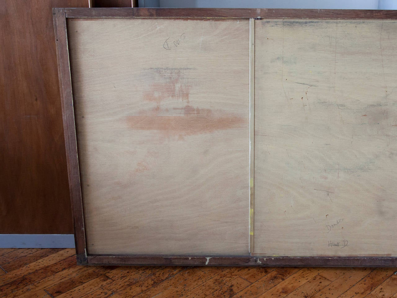 Jean Prouvé Sliding Cabinet Doors in Frames In Excellent Condition For Sale In Brooklyn, NY