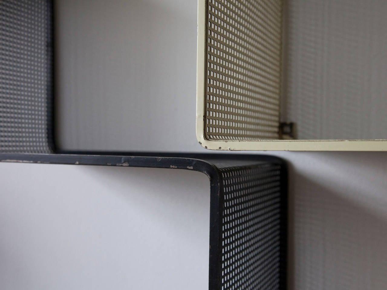 20th Century Mathieu Matégot Set of Modular Dedal Shelves For Sale