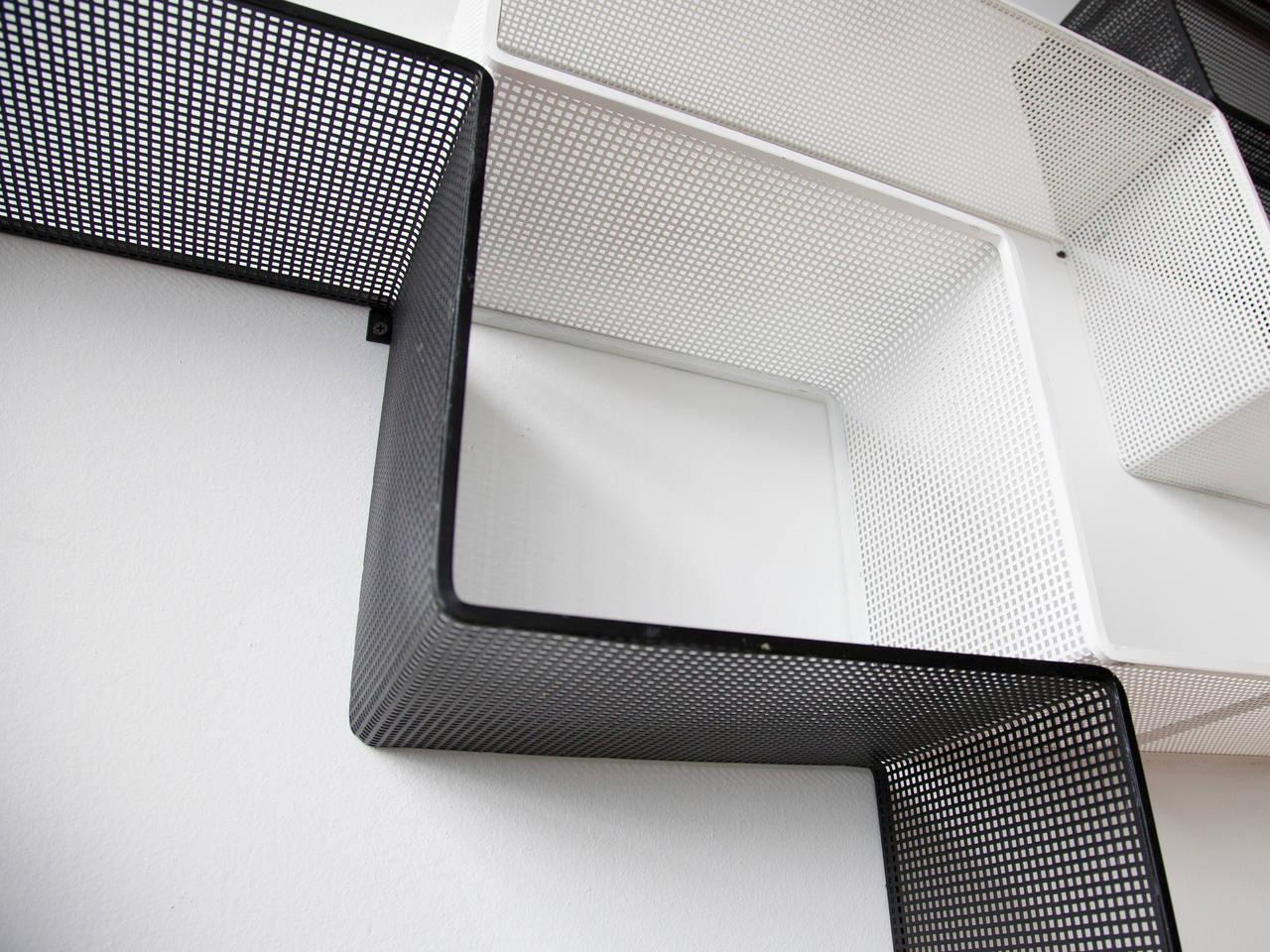 Mathieu Matégot Set of Modular Dedal Shelves 5