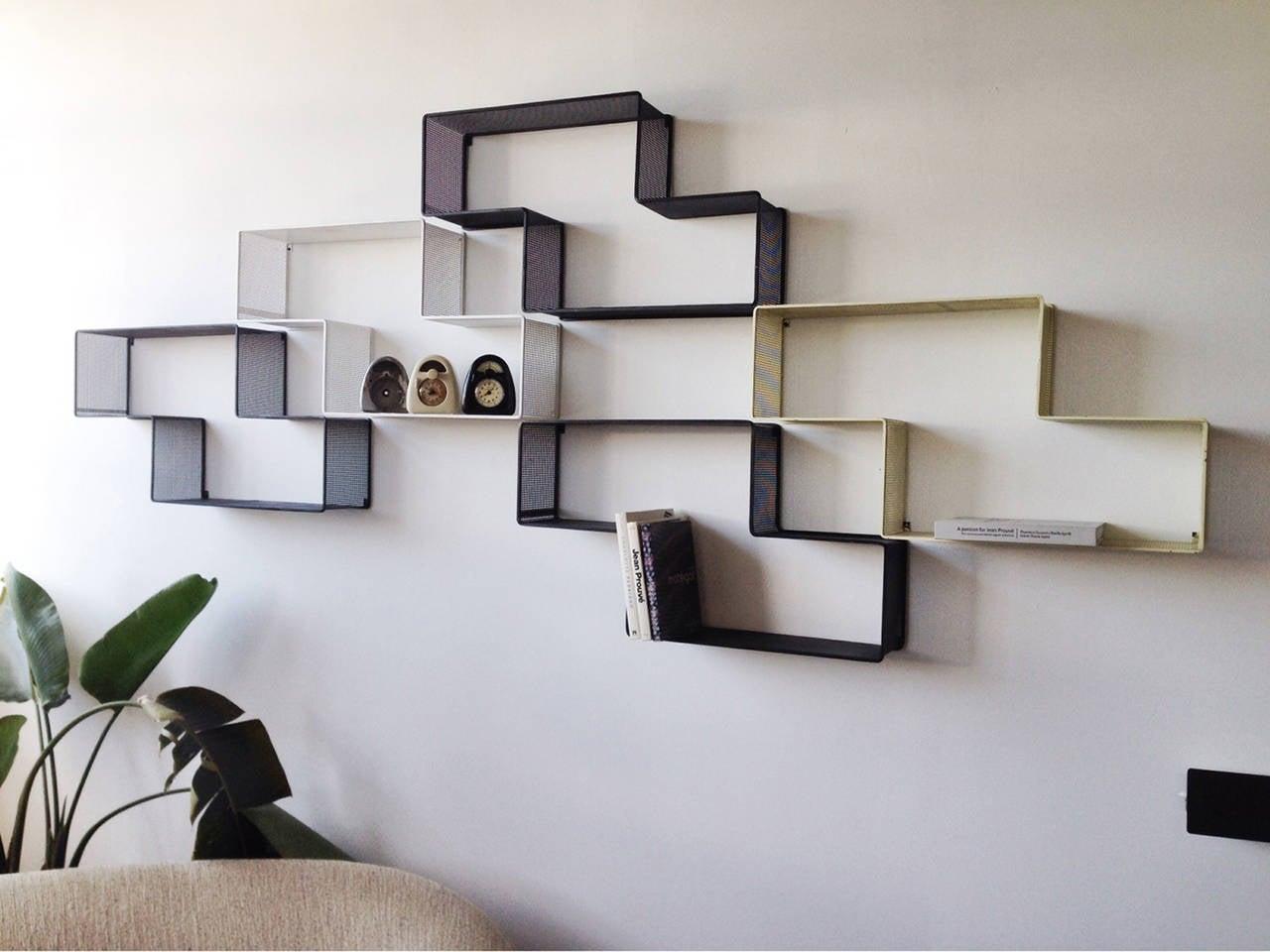 Mathieu Matégot Set of Modular Dedal Shelves 2