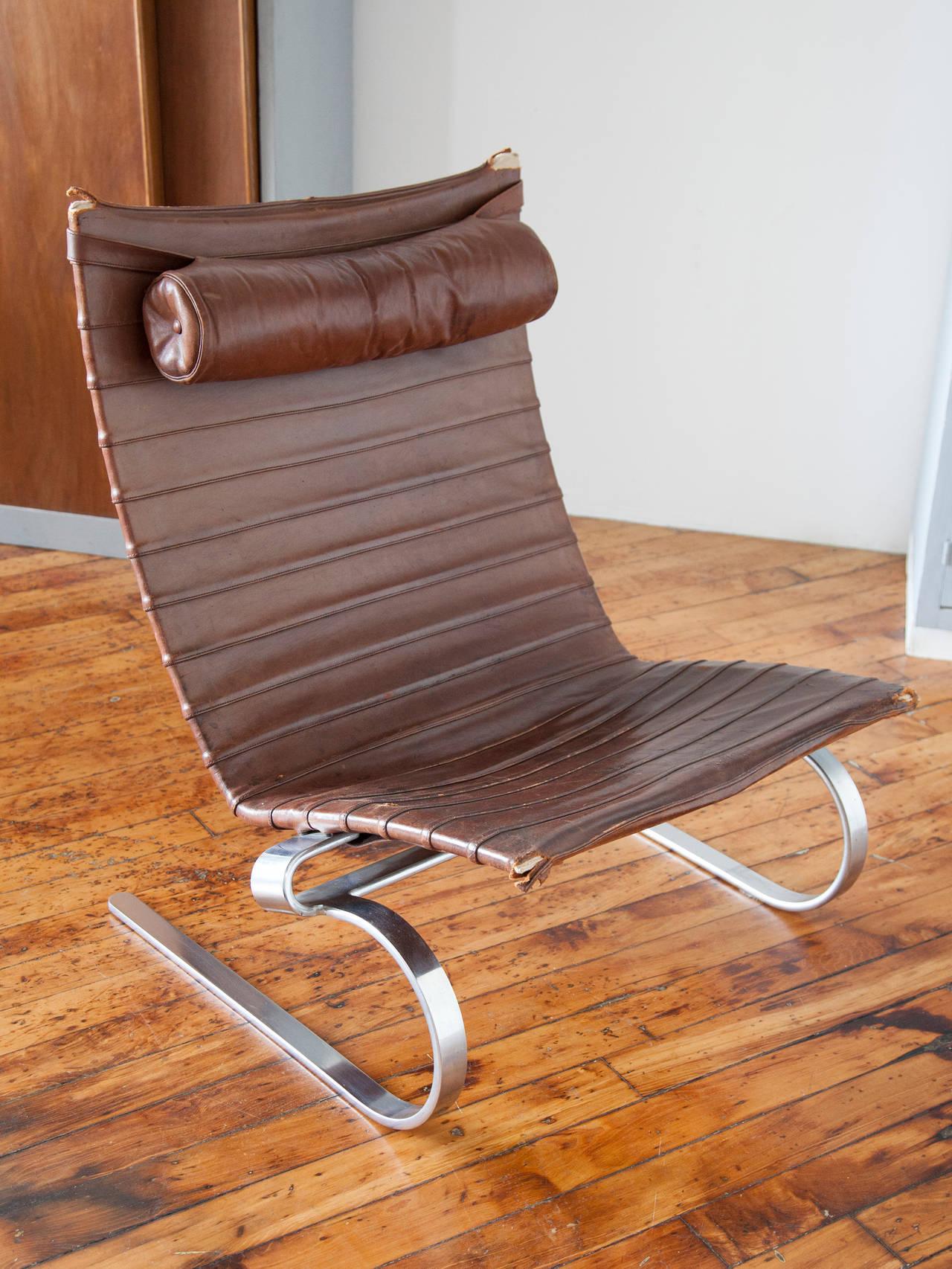 Danish Early Production PK-20 Lounge Chair by Poul Kjærholm