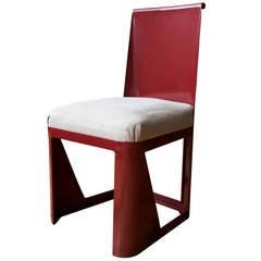 Folded Sheet Steel Chair by René Prou