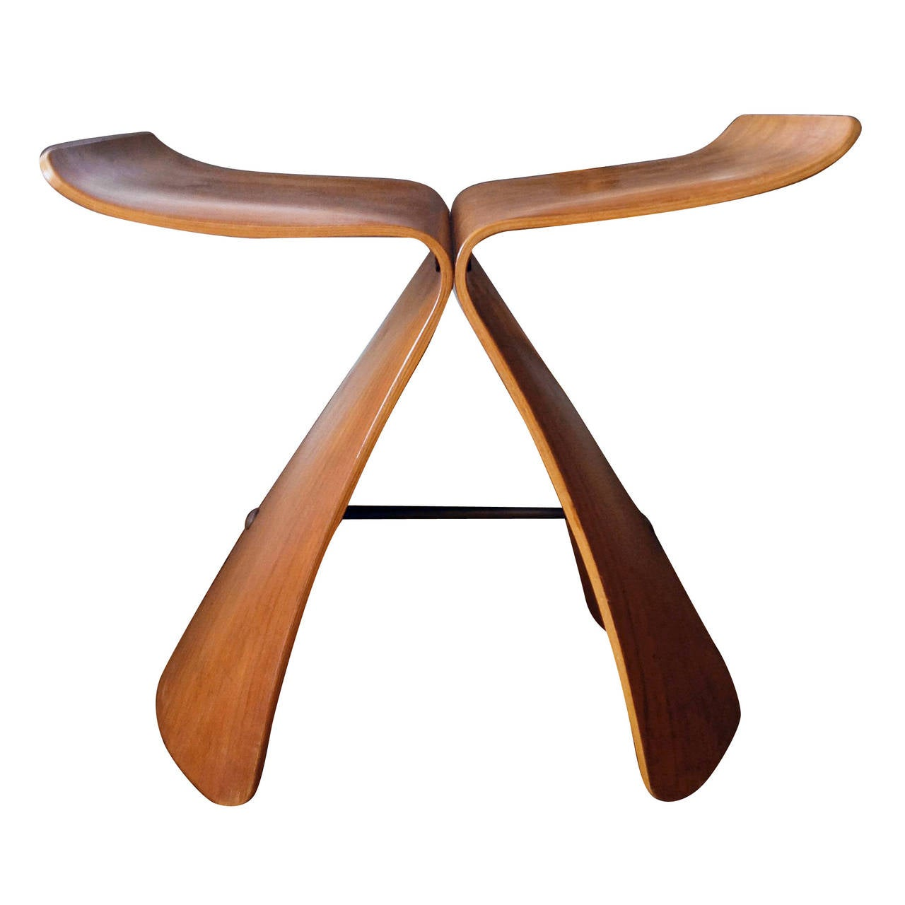 Butterfly chair sori yanagi - Rosewood Butterfly Stool By Sori Yanagi 1