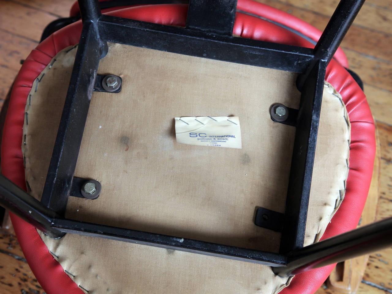"Enameled Carlo Mollino ""Lutrario"" Armchair For Sale"