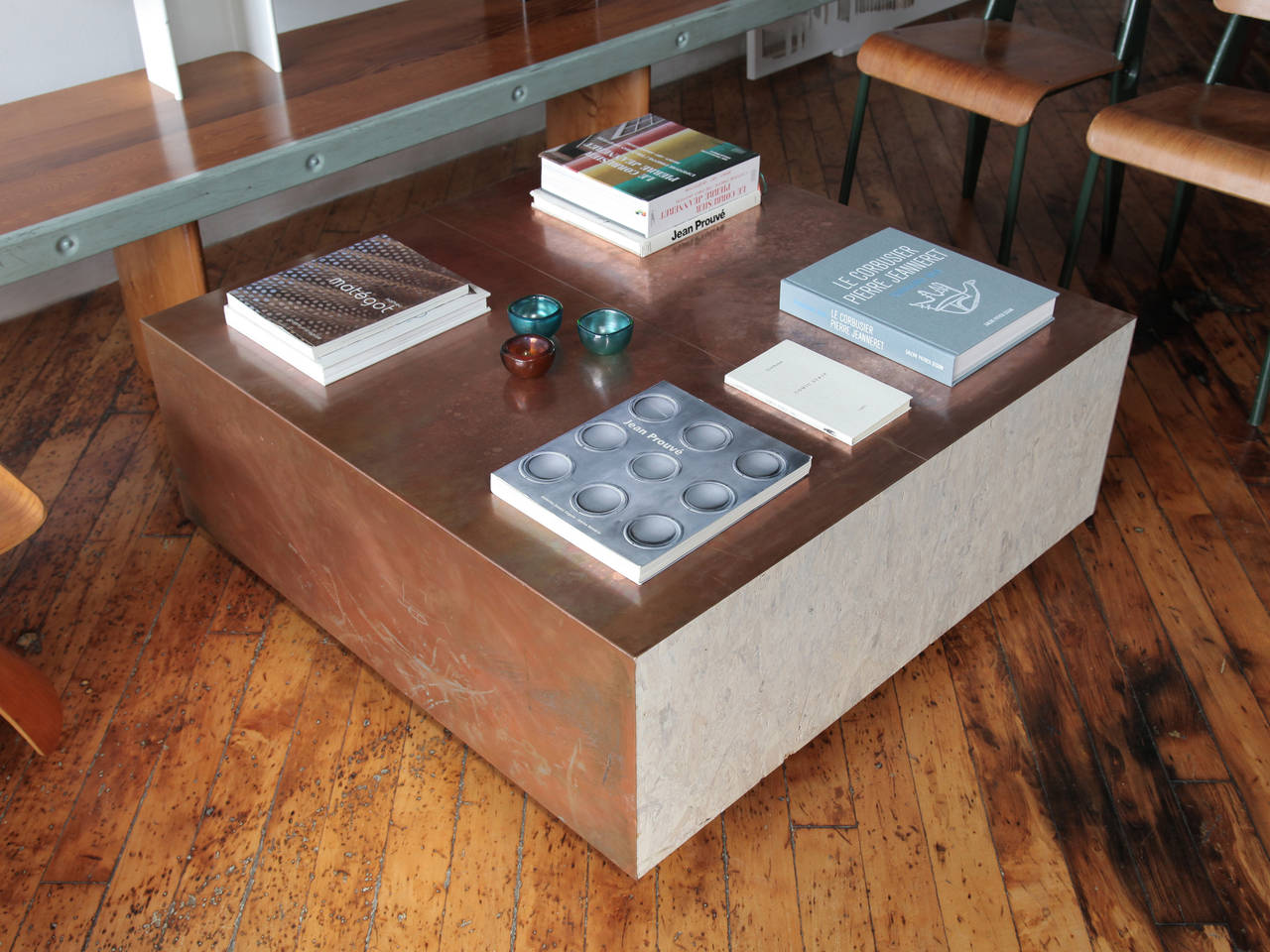 Vintage Copper Coffee Table at 1stdibs